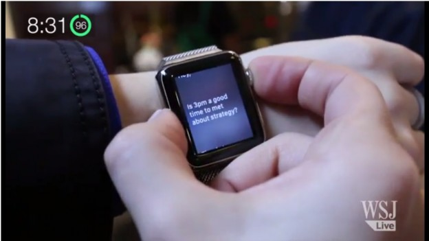 影片截圖http://www.wsj.com/articles/apple-watch-review-what-the-apple-watch-does-bestmake-you-look-good-1428494694