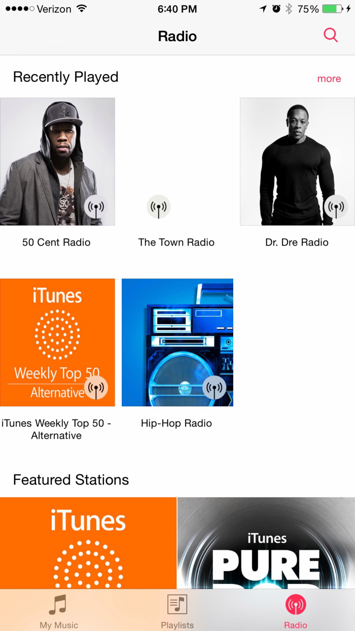 iOS 8.4 Music App - Radio
