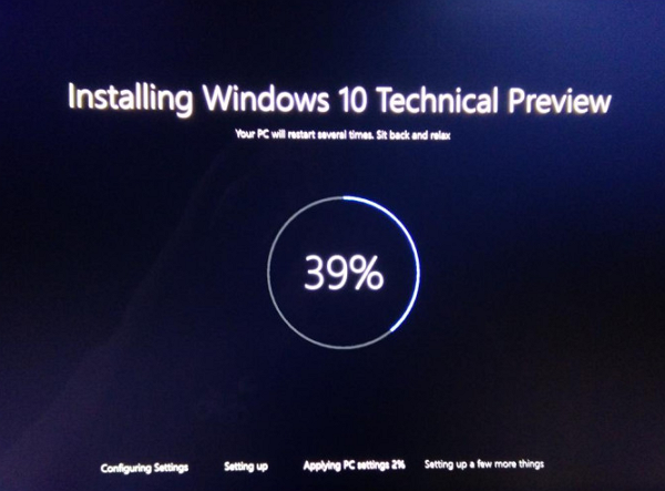Installing Windows 10 Technical Preview_techbang0624