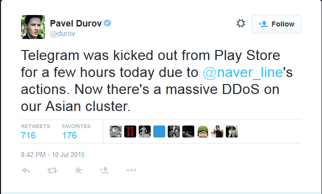 2015-07-13 18_04_33-Pavel Durov on Twitter_ _Telegram was kicked out from Play Store for a few hours