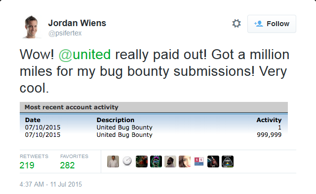 2015-07-17 15_40_05-Jordan Wiens on Twitter_ _Wow! @united really paid out! Got a million miles for