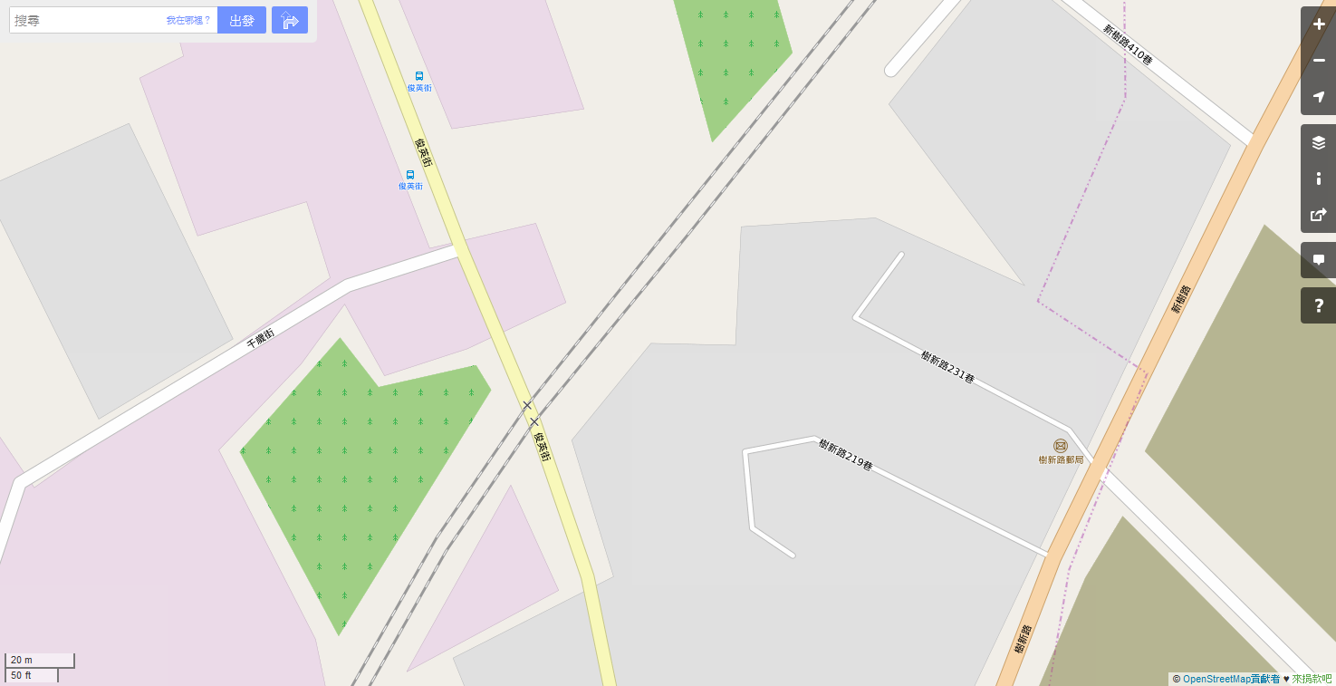 OpenStreetMap.Shulin-Railway-Crossing