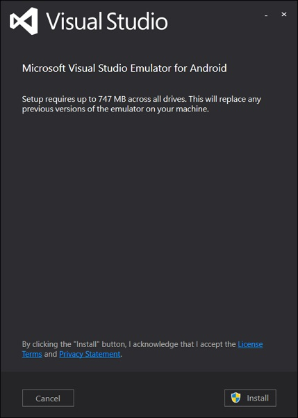 Visual Studio Android 2