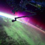 當北極光遇上日出,太空人帶你從國際太空站一窺奇觀