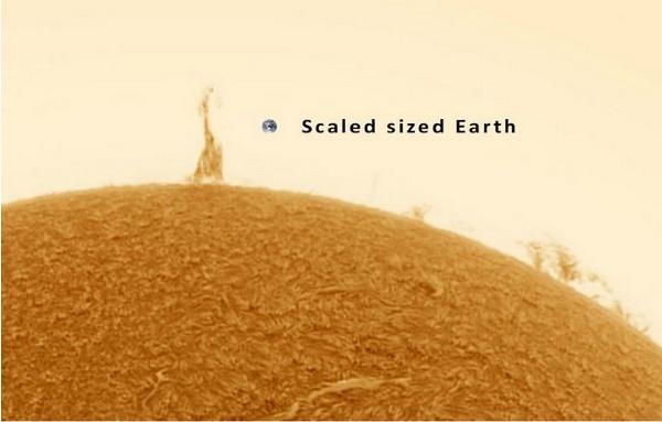 太陽上的艾菲爾鐵塔
