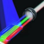 white laser beam