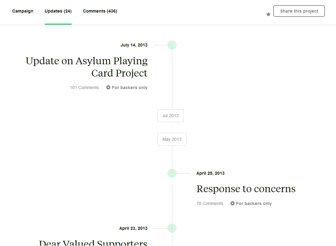 Asylum Playing Cards Kickstarter