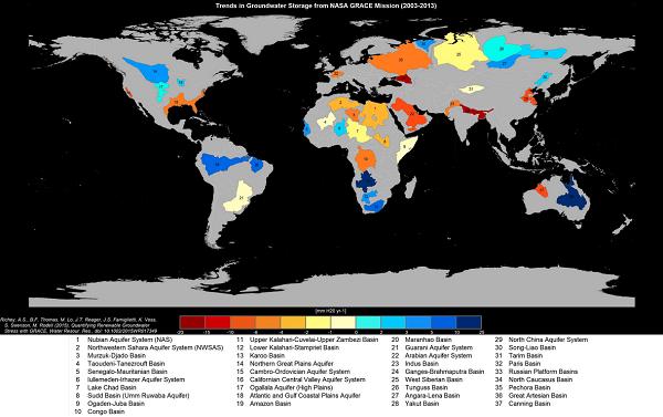 衛星告訴你,地球上 13 個地下含水層正面臨無法再復原的命運