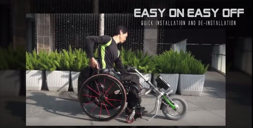 Electric Wheelchair powered tricycle