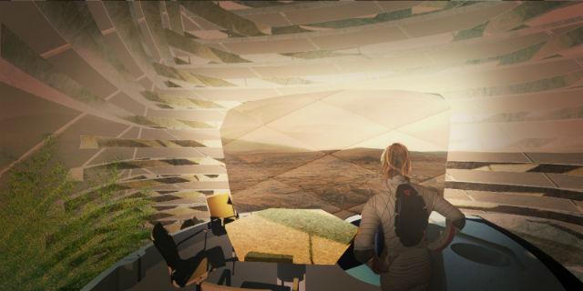 未来人类在火星上的家:3d