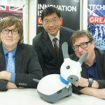 英國機器人產業專家訪台,仿生智慧機器狗「MiRO」伴隨左右