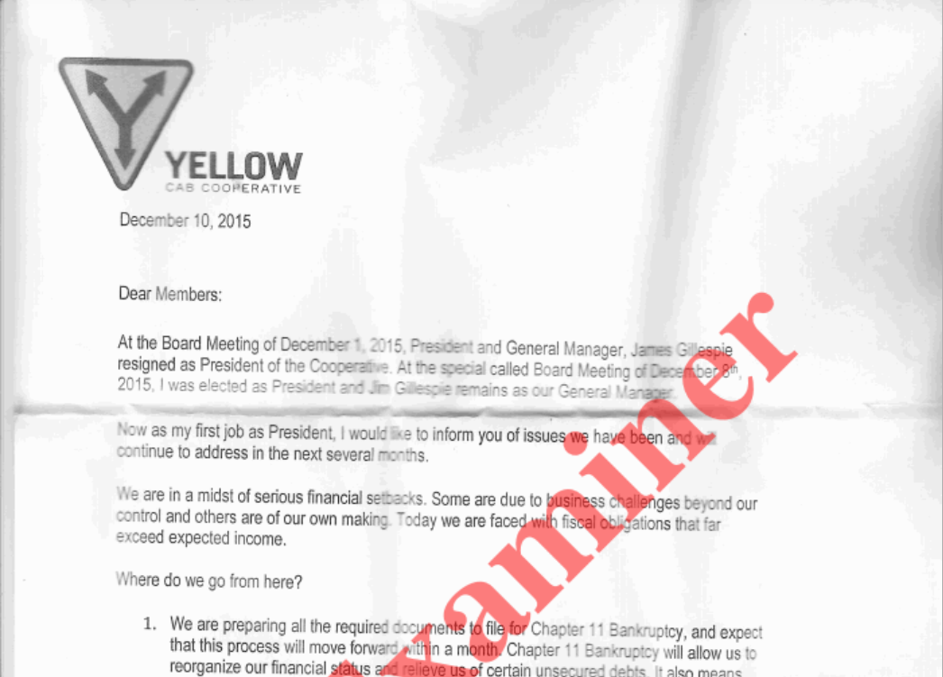 Yellow-Cab-Bankruptcy-Letter