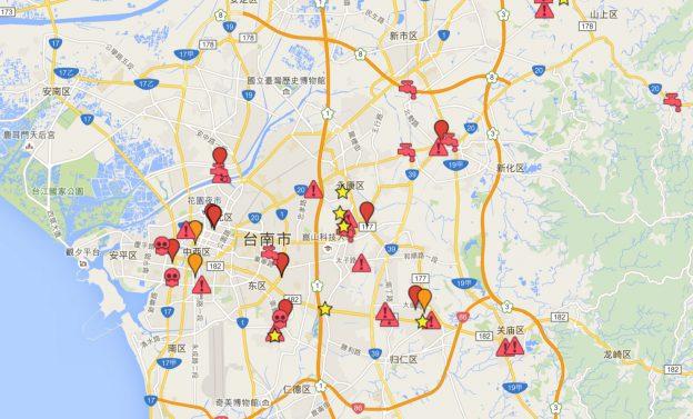 地震事件地圖Hackfoldr.org