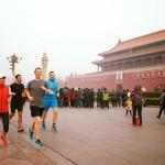 祖克柏北京慢跑 不畏霧霾沒戴口罩