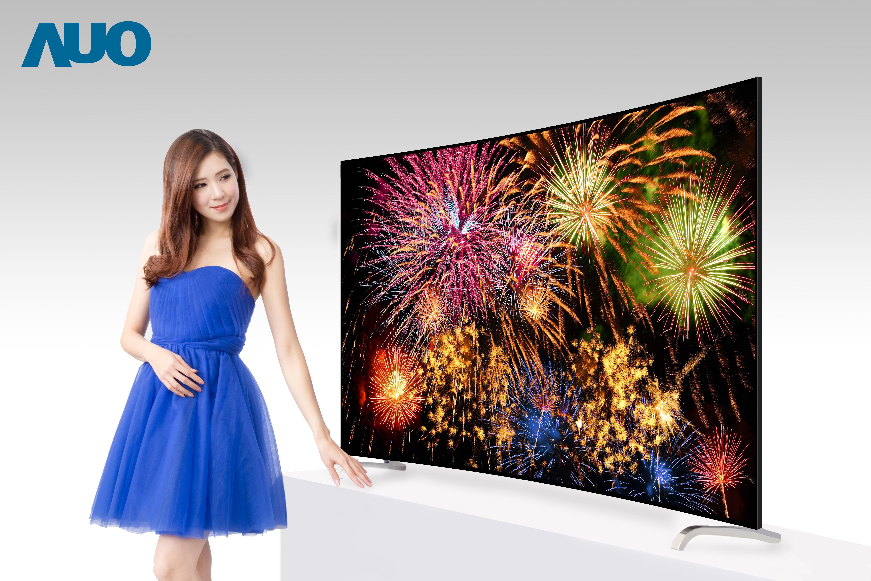 友達全平面無邊框ALCD液晶電視面板,整體視覺範圍拓展至極致 (圖:友達提供)