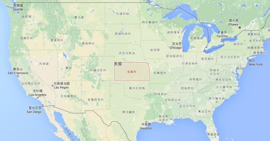 google美国地图中文版