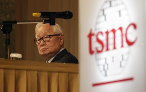 Taiwan Semiconductor Manufacturing Co Ltd (TSMC) Chairman Morris Chang attends an investors' conference in Taipei