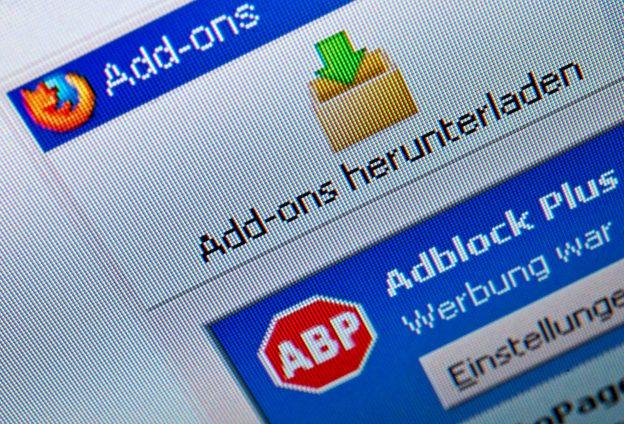 達志影像不得重複使用!!! ARCHIV- Das Browser Add-on Adblock ist am 16.03.2012 in Berlin auf einem Computermonitor zu sehen. Photo by: Andrea Warnecke/picture-alliance/dpa/AP Images