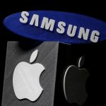 達志影像不得重複使用!!! 3D-printed Samsung and Apple logos are seen in this picture illustration made in Zenica, Bosnia and Herzegovina on January 26, 2016. Apple Inc is expected to report a 1.3 percent increase in iPhone sales in the holiday quarter, its slowest ever and a far cry from the double-digit growth investors have come to expect. Apple sold 75.5 million iPhones in the October-December quarter, according to research firm FactSet StreetAccount, 1 million more than what was sold in the year-ago quarter.  REUTERS/Dado Ruvic - RTX243XQ