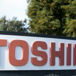 下載自美聯社 A logo sign outside of a facility occupied by the Toshiba Corporation in San Jose, California on January 23, 2016. Photo by Kristoffer Tripplaar *** Please Use Credit from Credit Field ***