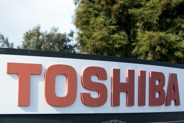 下載自美聯社 A logo sign outside of a facility occupied by the Toshiba Corporation in San Jose, California on January 23, 2016. Photo by Kristoffer Tripplaar *** Please Use Credit from Credit Field ***