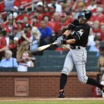 下載自路透 Aug 15, 2015; St. Louis, MO, USA; Miami Marlins left fielder Ichiro Suzuki (51) hits a single off of St. Louis Cardinals starting pitcher John Lackey (not pictured) in the first inning at Busch Stadium. Mandatory Credit: Jasen Vinlove-USA TODAY Sports - RTX1OE2V