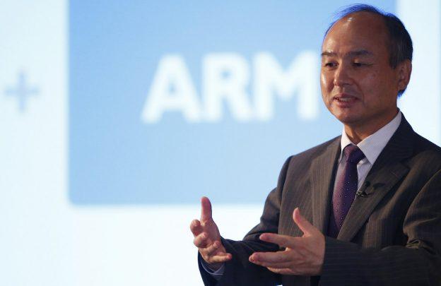 下載自路透 CEO of the SoftBank Group Masayoshi Son speaks at a new conference in London, Britain July 18, 2016. REUTERS/Neil Hall - RTSIHV2