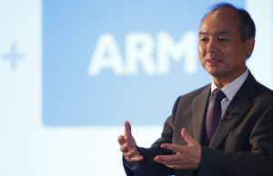 CEO of the SoftBank Group Masayoshi Son speaks at a new conference in London, Britain July 18, 2016. REUTERS/Neil Hall - RTSIHV2