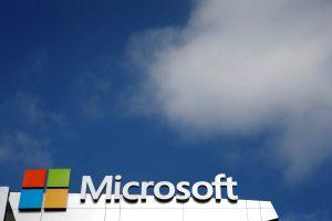 Microsoft logo 圖片來源:《達志影像》