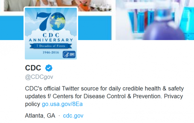 CDCgov–Twitter