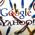 圖片來源:《達志影像》 圖片取自路透社 An illustration picture shows the logos of Google and Yahoo connected with LAN cables in a Berlin office October 31, 2013. The National Security Agency has tapped directly into communications links used by Google and Yahoo to move huge amounts of email and other user information among overseas data centers, the Washington Post reported on Wednesday. The report, based on secret NSA documents leaked by former contractor Edward Snowden, appears to show the agency has used weak restrictions on its overseas activities to exploit major U.S. companies' data to a far greater extent than realized.  REUTERS/Pawel Kopczynski (GERMANY - Tags: POLITICS BUSINESS TELECOMS) - RTX14UYT