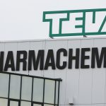 下載自美聯社 A logo sign outside of a facility occupied by Teva Pharmaceutical Industries in Haarlem, Netherlands on October 5, 2015. Photo by Kristoffer Tripplaar *** Please Use Credit from Credit Field ***