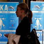 下載自路透 Material to prevent Zika infection by mosquitoes are displayed at the 69th World Health Assembly at the United Nations European headquarters in Geneva, Switzerland, May 23, 2016. REUTERS/Denis Balibouse  - RTX2ECWZ
