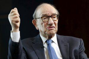 """圖片來源:《達志影像》 圖片取自路透社 Former Federal Reserve Chair Alan Greenspan speaks at a Brookings Institution forum on """"Achieving Strong Economic Growth"""" in Washington April 8, 2015. REUTERS/Yuri Gripas - RTR4WJ9W"""