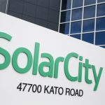 下載自路透 A logo sign outside of a facility occupied by SolarCity in Fremont, California on January 23, 2016. Photo by Kristoffer Tripplaar *** Please Use Credit from Credit Field ***
