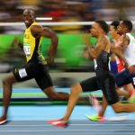 下載自路透 2016 Rio Olympics - Athletics - Semifinal - Men's 100m Semifinals - Olympic Stadium - Rio de Janeiro, Brazil - 14/08/2016. Usain Bolt (JAM) of Jamaica looks at Andre De Grasse (CAN) of Canada as they compete.  REUTERS/Kai Pfaffenbach  TPX IMAGES OF THE DAY FOR EDITORIAL USE ONLY. NOT FOR SALE FOR MARKETING OR ADVERTISING CAMPAIGNS.   - RTX2KUAJ
