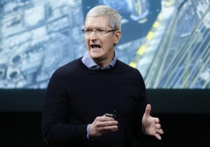 Apple CEO Tim Cook speaks during an event at the Apple headquarters in Cupertino, California March 21, 2016. REUTERS/Stephen Lam - RTSBJ0A