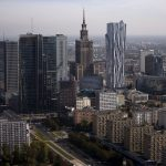 下載自路透 A general view of the cityscape, with Palace of Culture, is pictured from the construction site of a new skyscraper in Warsaw, Poland October 2, 2015. REUTERS/Kacper Pempel - RTS58ZE