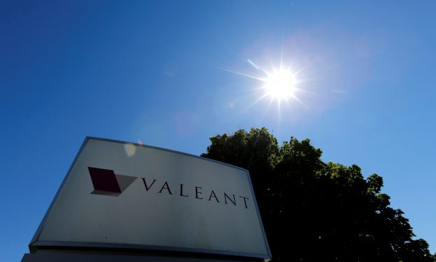 下載自路透 A sign for the headquarters of Valeant Pharmaceuticals International Inc is seen in Laval, Quebec June 14, 2016.   REUTERS/Christinne Muschi  - RTX2G72E