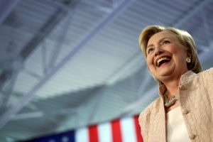 U.S. Democratic presidential nominee Hillary Clinton holds a rally at John Marshall High School in Cleveland, Ohio, U.S. August 17, 2016.  REUTERS/Mark Makela/File Photo - RTX2MXM9