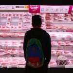 圖片來源:《達志影像》 圖片取自路透社 A shopper browses packs of meat products at a supermarket in Chiba, east of Tokyo February 26, 2014. When it comes to trade policy, Prime Minister Shinzo Abe faces a choice between the fears of Japan's ageing farm lobby and the hopes of suburban families lined up here - a nearly 20-meter long meat counter at a Tokyo mall showcasing Australian beef. Picture taken February 26, 2014. REUTERS/Yuya Shino (JAPAN - Tags: AGRICULTURE BUSINESS POLITICS FOOD) - RTR3G3BL
