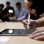 下載自路透 The new Apple Pencil is displayed during an Apple media event in San Francisco, California, September 9, 2015. REUTERS/Beck Diefenbach - RTSE25