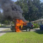 三星 Note 7 又發生電池爆炸,竟造成用戶整輛車起火