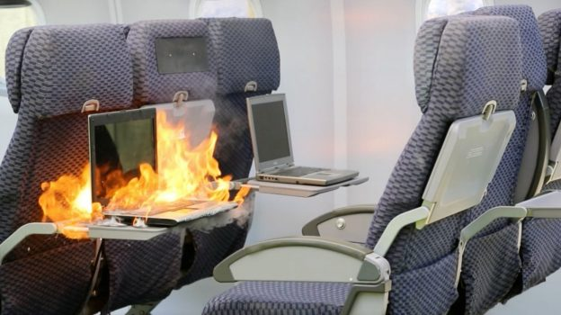 fire on the plane