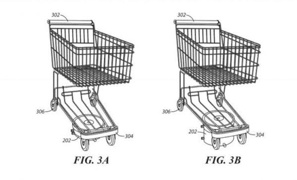 沃尔玛申请自动购物车专利,消费者再也不用担心购物车