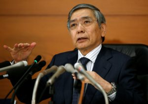 Bank of Japan (BOJ) Governor Haruhiko Kuroda attends a news conference at the BOJ headquarters in Tokyo, Japan, September 21, 2016.  REUTERS/Toru Hanai - RTSOPNO