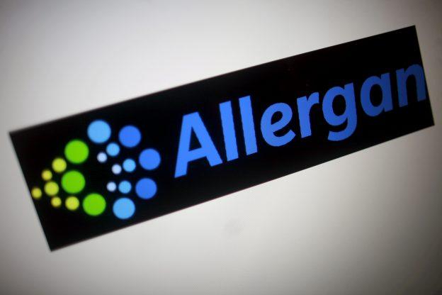 下載自路透 The Allergan logo is seen in this photo illustration November 23, 2015. To match special report USA-FDA/CASES REUTERS/Thomas White/Illustration/File Photo                   - RTX2OO3N