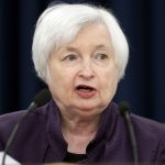 圖片來源:《達志影像》 圖片取自美聯社 Federal Reserve Board Chair Janet Yellen speaks during a news conference on the Federal Reserve's monetary policy, Wednesday, Sept. 21, 2016, in Washington. The Federal Reserve is keeping its key interest rate unchanged but signaling that it will likely raise rates before year's end.  (AP Photo/Alex Brandon)