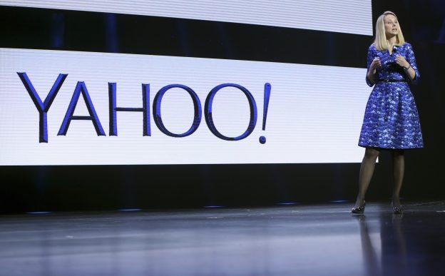 下載自路透 Yahoo CEO Marissa Mayer speaks during her keynote address at the annual Consumer Electronics Show (CES) in Las Vegas, Nevada January 7, 2014. REUTERS/Robert Galbraith (UNITED STATES - Tags: BUSINESS SCIENCE TECHNOLOGY) - RTX175N1
