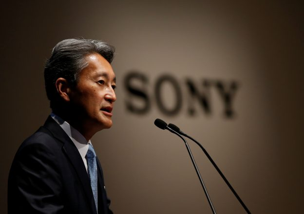 下載自路透 Sony Corp's President and Chief Executive Officer Kazuo Hirai speaks during its corporate strategy meeting at the company's headquarters in Tokyo, Japan June 29, 2016.  REUTERS/Toru Hanai - RTX2IS2Q